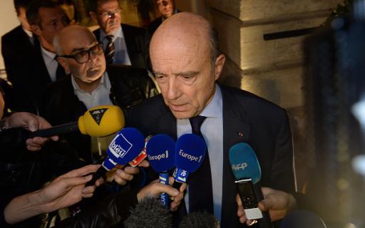 Alain Juppé s'exprime devant la presse à Bordeaux après l'annonce des résultats à l'élection du président de l'UMP, le 29 novembre 2014 © Mehdi Fedouach AFP