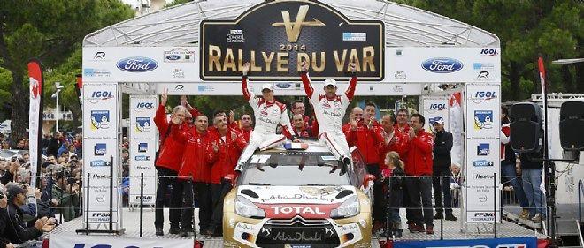 Copiloté par sa femme Séverine, Sébastien Loeb a remporté l'édition 2014 du Rallye du Var. Une bonne mise en jambe en prévision de la participation annoncée du nonuple champion du monde au prochain Monte-Carlo.