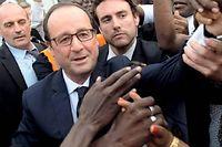 François Hollande, à 4 000 km de Paris, a adressé quelques piques à son adversaire favori. ©Alain Jocard/AFP