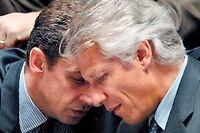 Nicolas sarkozy et Dominique de Villepin en 2007. ©Martin Bureau / AFP