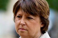 Cet été, la maire de Lille Martine Aubry avait vivement réagi contre la fusion du Nord-Pas-de-Calais avec la Picardie. ©FRED DUFOUR / AFP