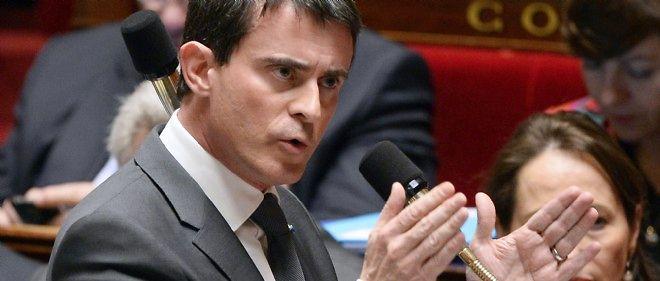Manuel Valls lors de la séance des questions à l'Assemblée nationale.