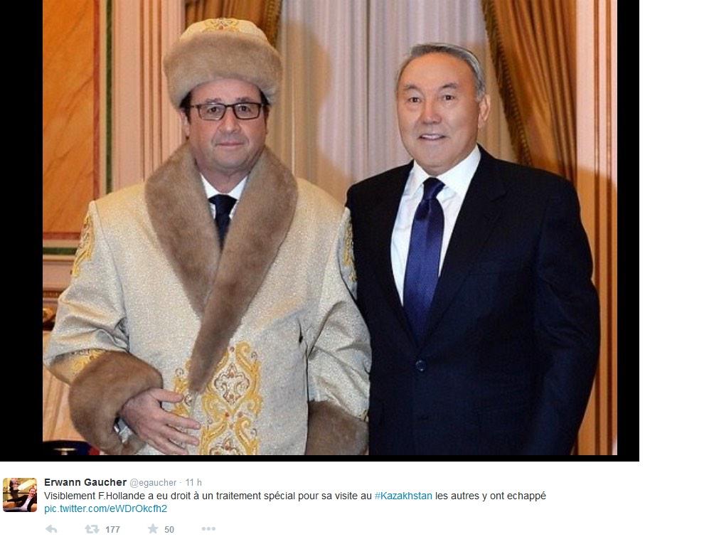 François Hollande, moqué sur le web ©  Capture d'écran Twitter