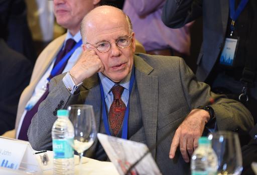 L'ancien numéro deux de la CIA John McLaughlin lors d'une conférence sur la sécurité à New Delhi le 21 octobre 2014 © Prakash Singh AFP/Archives
