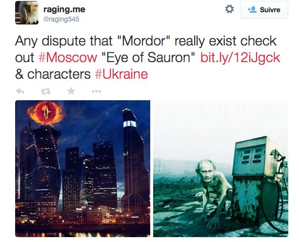 Poutine comparé à Sauron sur Twitter ©  Capture d'écran