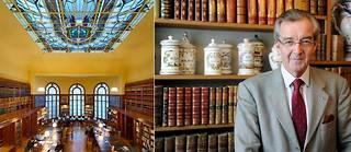 La bibliothèque Carnegie entre les mains de la ville et Patrick Demouy secrétaire général de l'Académie. ©RIEGER Bertrand / hemis - Alain Julien / Andia
