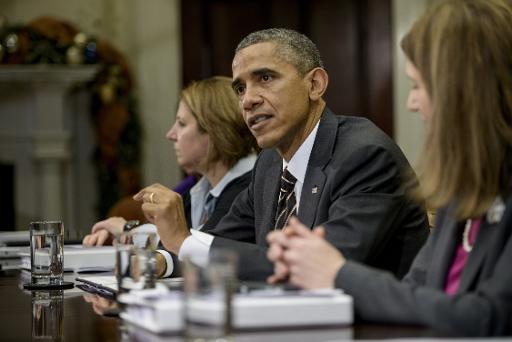 Le président Barack Obama le 12 décembre 2014 à la Maison Blanche à New York © Brendan Smialowski AFP