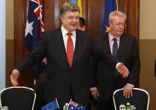Le président ukrainien Petro Porochenko le 12 décembre 2014 à Sydney © Rick Rycroft Pool/AFP