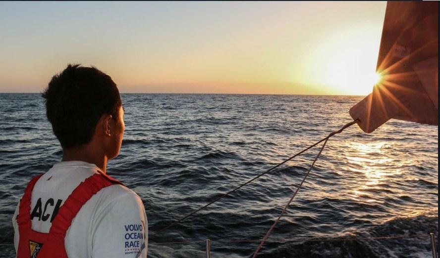 A bord de Dongfeng lors de la 2e étape de la Volvo Ocean Race. ©  Yann Riou / Volvo Ocean Race