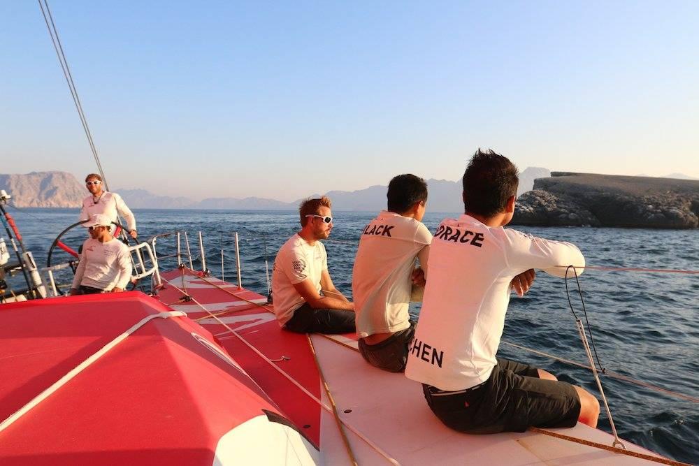 A bord de Dongfeng lors de la 2e étape de la Volvo Ocean Race. ©  Yann Riou/Volvo Ocean Race