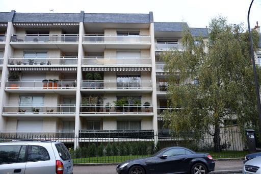 Vue en date du 29 octobre 2014 du l'immeuble à Paris, dans lequel se trouve l'appartement de Thierry Lepaon © Bertrand Guay AFP/Archives