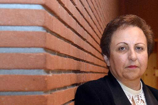L'Iranienne Shirin Ebadi, prix Nobel de la paix 2003, le 12 décembre 2014 à Rome © Tiziana Fabi AFP