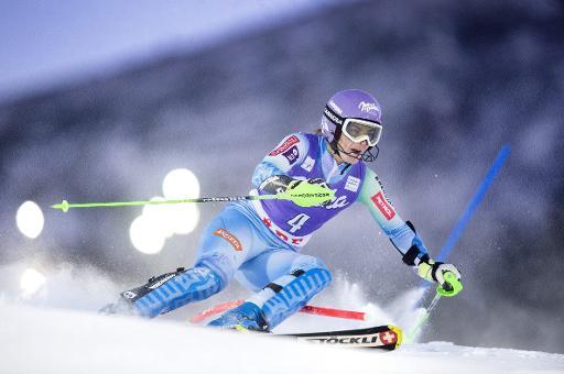 La Slovène Tina Maze lors du slalom d'Äre en Suède, le 13 décembre 2014 © Marcus Ericsson TT NEWS AGENCY/AFP