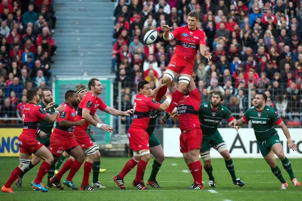 Juan Smith et Toulon, face au Leicester. ©  BERTRAND LANGLOIS / AFP