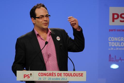 Emmanuel Maurel, aujourd'hui l'un des principaux animateurs de l'aile gauche du parti socialiste, prononce un discours lors du Congrès du PS à Toulouse, le 27 octobre 2012 © Eric Cabanis AFP/Archives