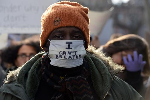 Marche à New York contre les bavures policières, le 13 décembre 2014 © Don Emmert AFP