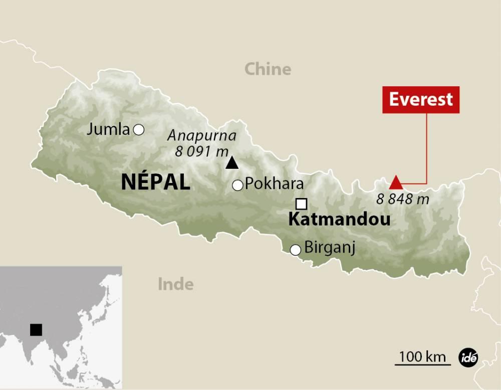 L'Everest, dans l'Himalaya ©  Idé
