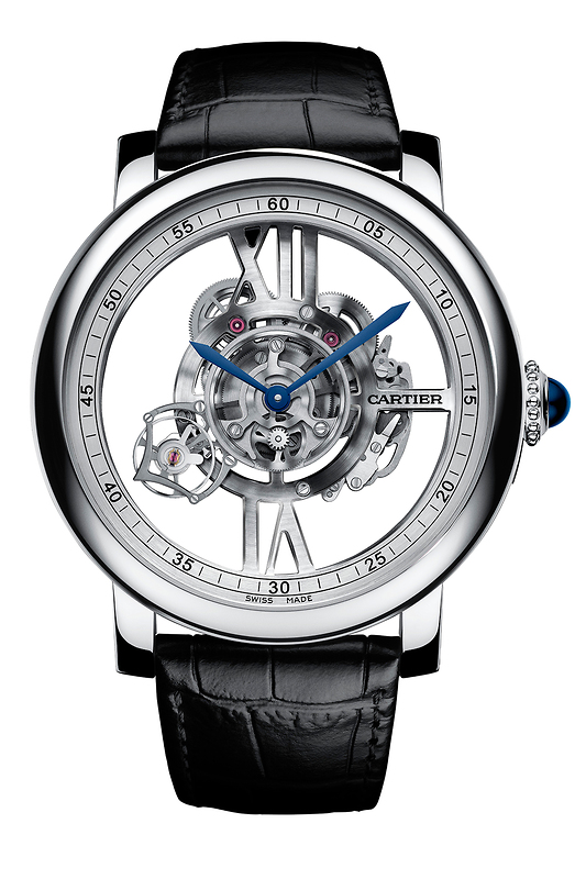 Rotonde de Cartier Astrotourbillon Squelette Haute Horlogerie Astrotourbillon Squelette