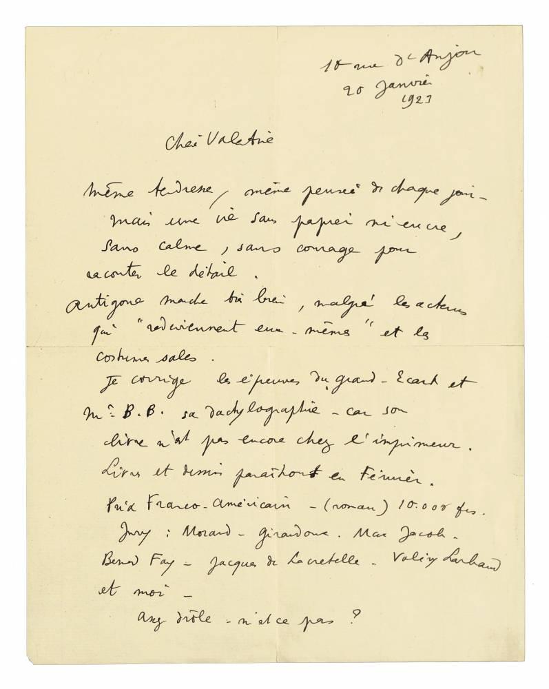 """Extrait de """"La boîte à Lettres"""", de Cécile Guilbert ©  DR"""