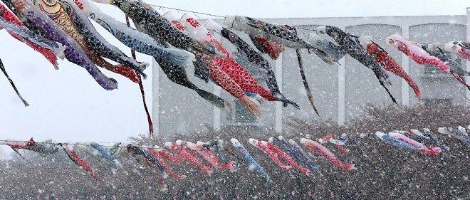 Des tempêtes de neige très violentes frappent actuellement le Japon (photo d'illustration).