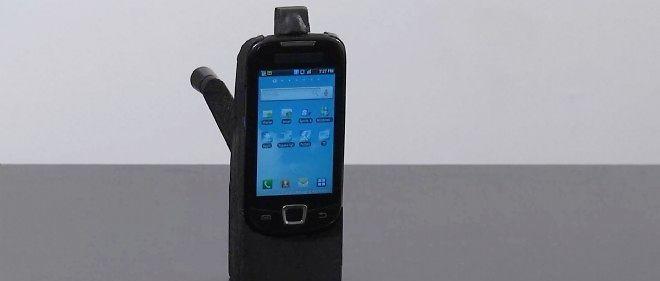 Le téléphone à manivelle, destiné au marché africain et développé par la start-up Pilo.