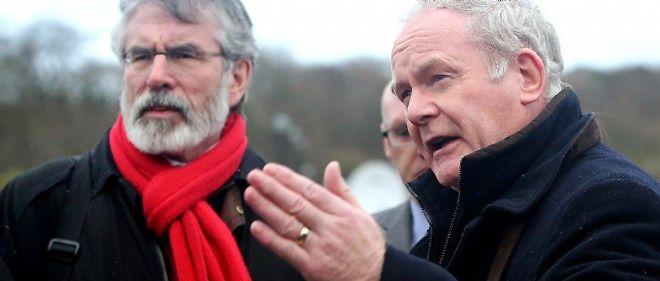 Gerry Adams et Martin McGuinness, figures historiques de la lutte républicaine et catholique au Nord.