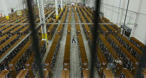 Les entrepôts du géant du commerce en ligne Amazon à Berlin le 11 novembre 2014 © John Macdougall AFP/Archives