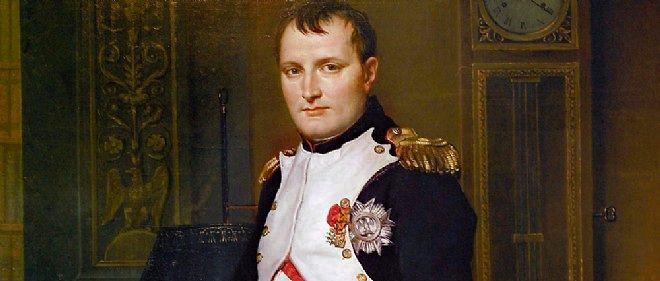 """En 1812, David peint """"Napoléon dans son cabinet de travail aux Tuileries"""" (détail), allégorie de l'oeuvre civile de l'empereur."""
