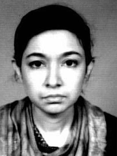 Aafia Siddiqui, scientifique pakistanaise écrouée aux Etats-Unis, image fournie par le FBI le 26 mai 2004 ©  FBI/AFP/Archives