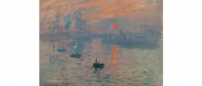 """""""Impression, soleil levant"""", de Claude Monet, a donné son nom au mouvement impressionniste."""