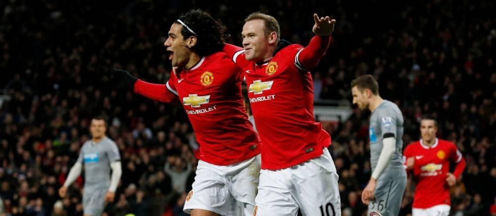 Falcao et Rooney ont été les grands artisans de la victoire de United 3-1 face à Newcastle.