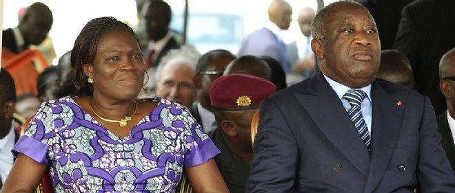 Simone et Laurent Gbagbo la 4 février 2011 à Abidjan.