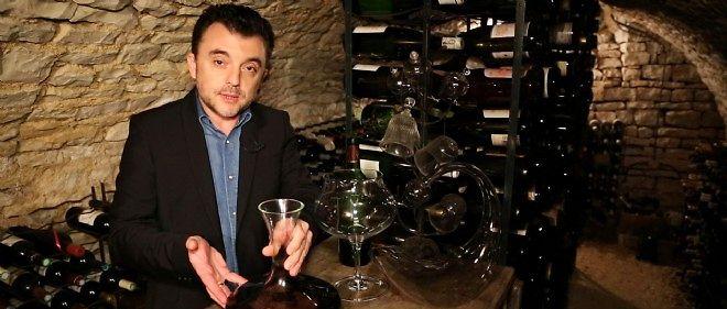 "Olivier Bompas, sommelier et journaliste au ""Point""."