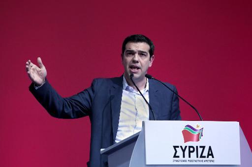 Alexis Tsipras, chef du parti de gauche Syriza,  en tête des sondages avant les élections législatives de janvier, à Athènes le 3 janvier 2015 © Angelos Tzortzinis AFP