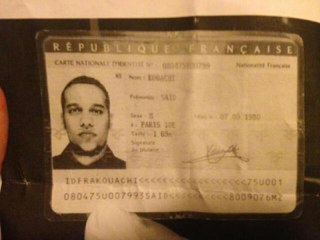 Carte identité de Saïd Kouachi ©  DR