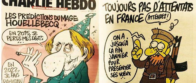 """""""Charlie Hebdo"""" : Houellebecq et djihadistes au sommaire du dernier numéro"""