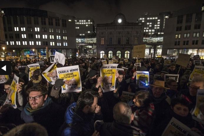 Rassemblement de soutien à Bruxelles © FILIP DE SMET AFP
