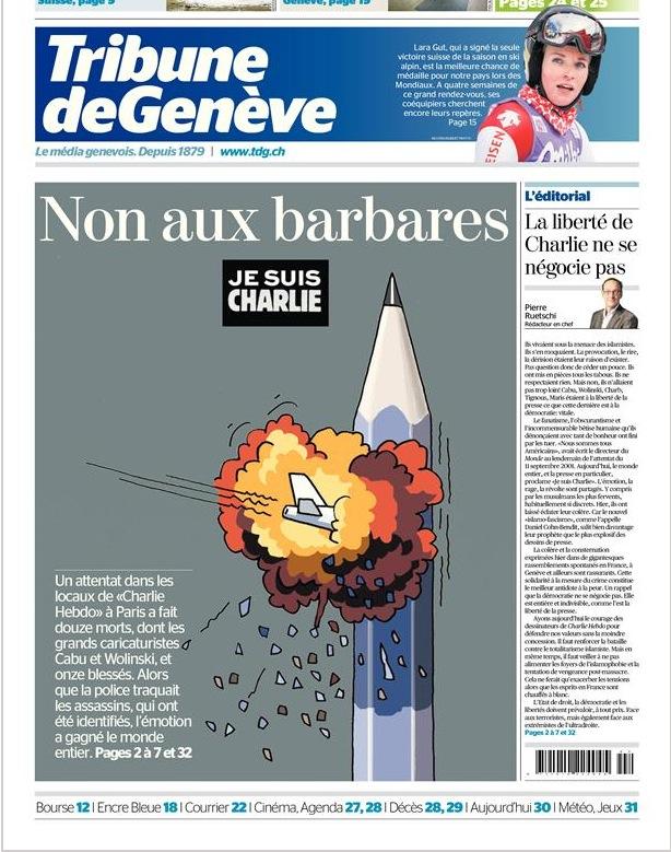 Une de la Tribune de Genève ©  tdg.ch