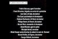 La liste des douze morts dans l'attentat contre Charlie Hebdo.