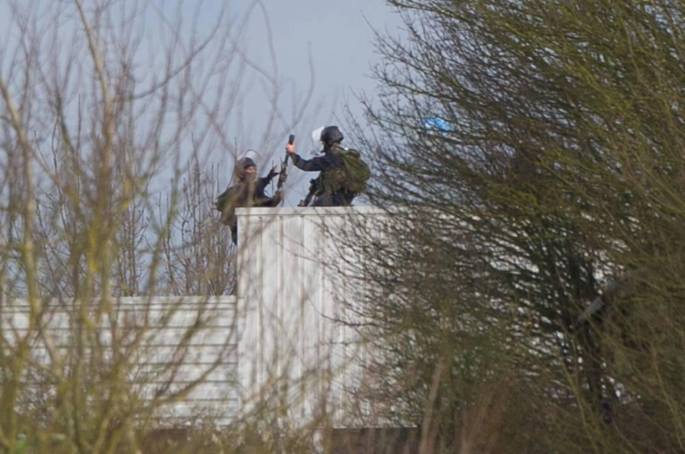 Assaut du GIGN à Dammartin-en-Goële ©  AFP