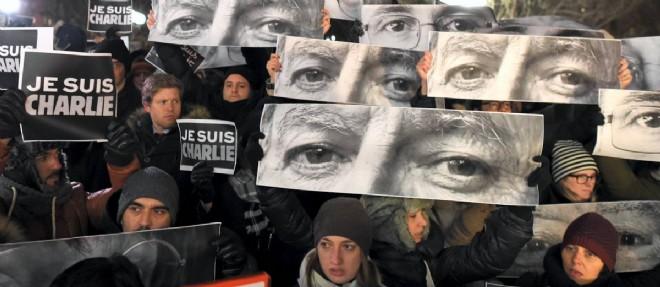 À New York dès mercredi, la foule exprimait sa solidarité avec la France et