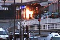 L'assaut sur le magasin Hyper Cacher, porte de Vincennes. ©GABRIELLE CHATELAIN / AFPTV / AFP