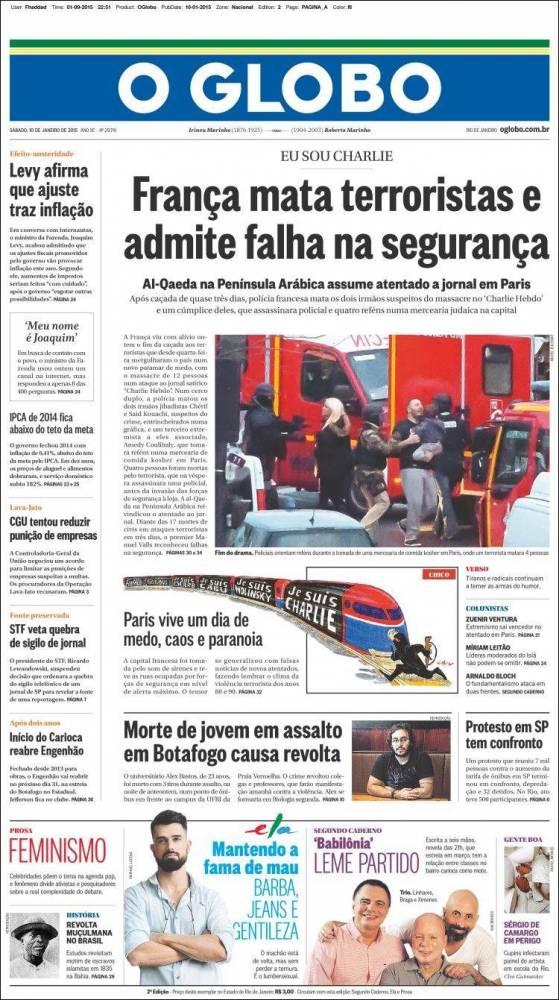 O Globo, samedi matin. ©  DR
