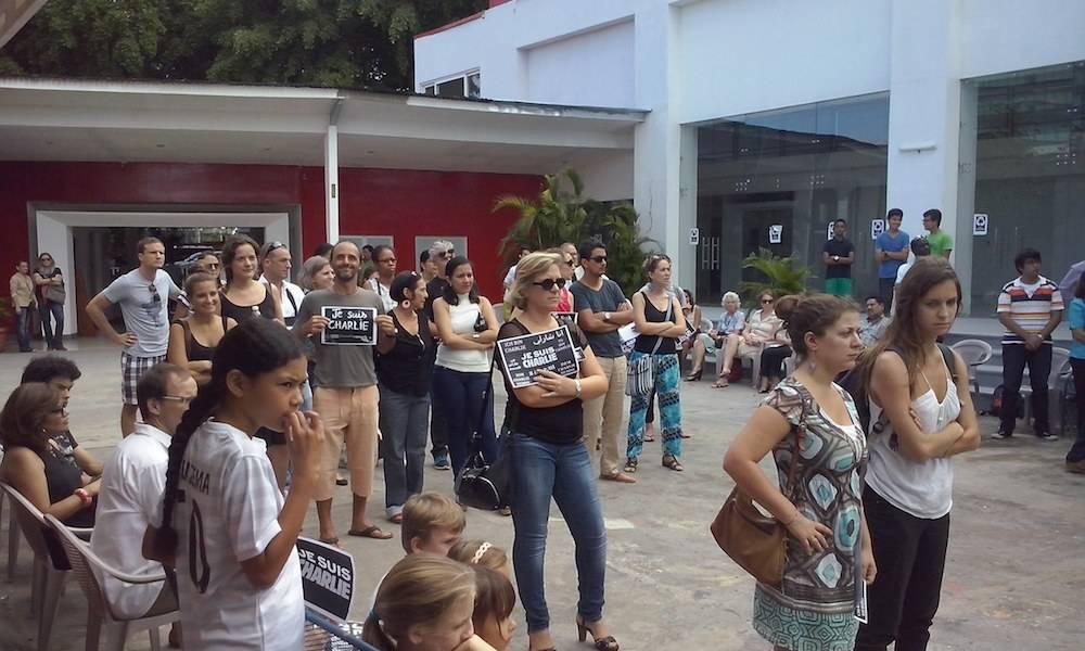 Manifestation de soutien au Nicaragua.