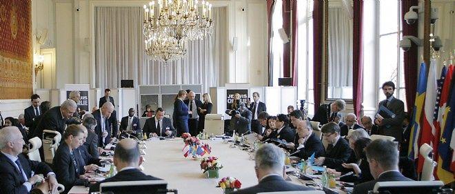 Réunion internationale avec 11 ministres de l'Intérieur européens.