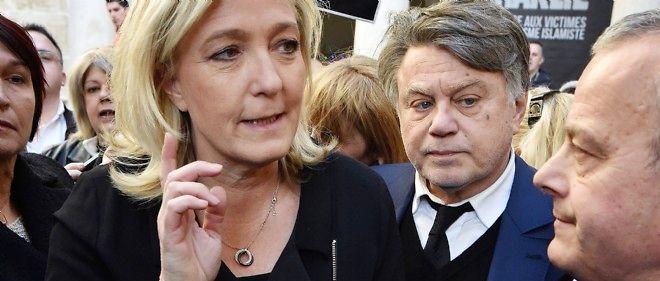 La présidente du Front national, à Beaucaire, le 11 janvier 2015.