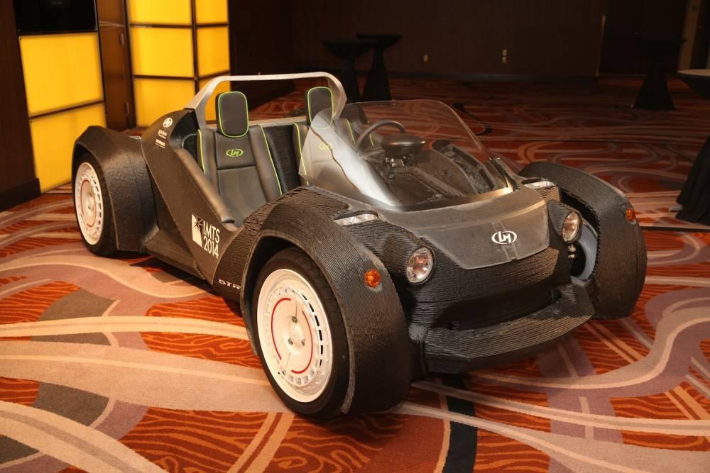 Première apparition d'une voiture réalisée par une imprimante 3D. La révolution en marche? ©  NAIAS