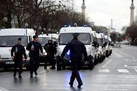 Porte de Vincennes à Paris, lors de la prise d'otages d'Amédy Coulibaly. ©AFP/ERIC FEFERBERG