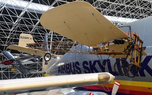 Le Musée de l'aviation Aeroscopia, le 9 janvier 2015 à Toulouse, quatre jours avant l'inauguration de ce temple de l'aviation, qui présente 80 pièces de toutes les époques © Eric Cabanis AFP