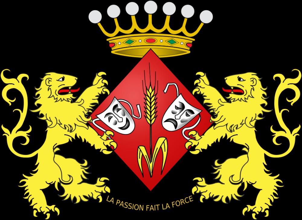 Les armoiries de la baronne Léonie Cooreman, alias Annie Cordy